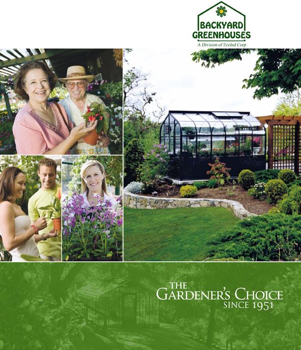 Backyard Greenhouses Catalog