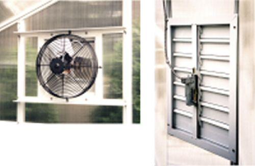 Greenhouse Shutter Fans : Greenhouse ventilation exhaust fan fans